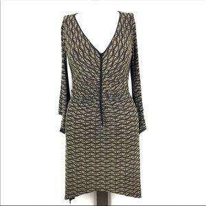 3/$25 Max Studio [S] Gold Abstract Sheath Dress